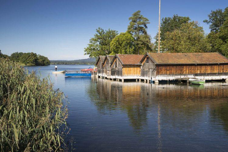 Seehausen blaues Land Ruderboote